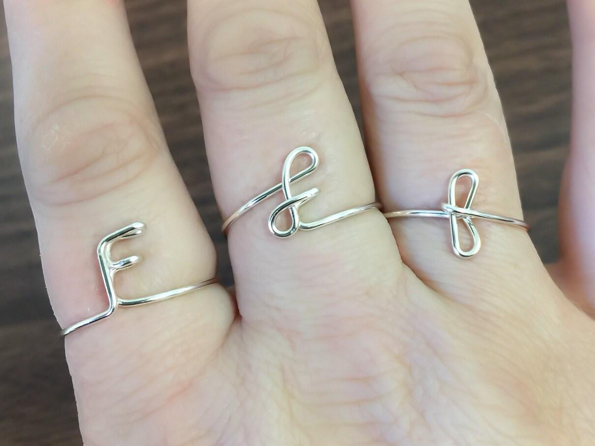 Ersten Ring Buchstabe F-Ring personalisierte erste