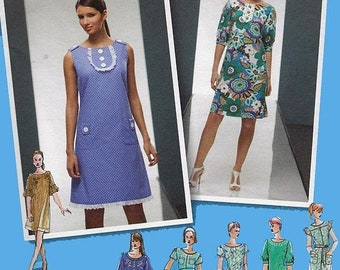 ON SALE Misses A Line Dress with Seven Sleeve Variations Sewing Pattern Simplicity 2995 Plus  Size 14-22 Bust 36-44 Uncut