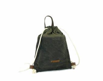 Backpack, canvas backpack, travel backpack, drawstring bag, gym bag, backpack for her, backpack for him, gift for her, gift for him