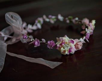 Pink flowers for sweet Elf wreath
