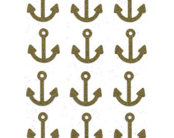 Anchor (per 12) in Flex fusible glittery gold