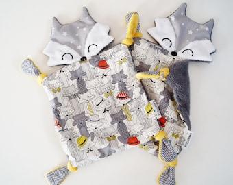 Fox stuffed animals, toys set flat minky