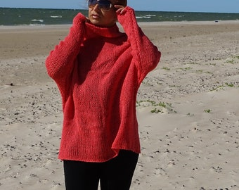 oversized sweater, slouchy sweater, loose knit sweater, knit sweater, alpaca sweater, wool pullover, oversized, knitwear, ready to ship
