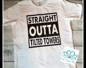 Fortnite, Boys shirt, Straight Outta tilted towers