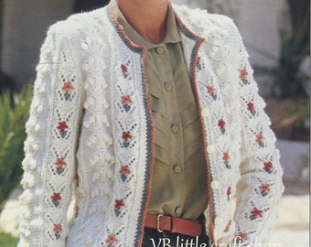 Lady's cardigan knitting pattern. Instant PDF download!