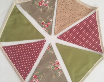 Earthy Floral Bunting