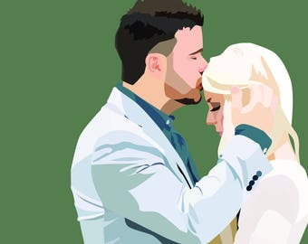 Couple's Pop Art Portrait