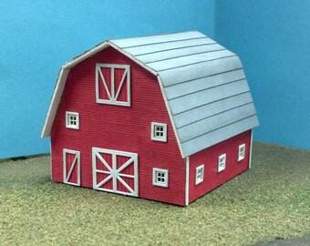 Train Time Laser HO Scale Barn Building Kit