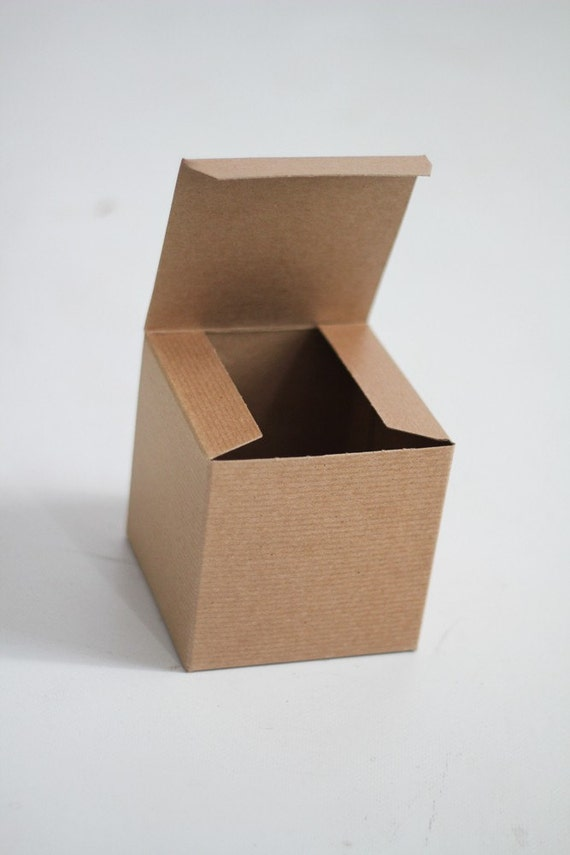 Kraft Gift Boxes - 10- 5x5x5 inch  -Kraft Solid surface or Pinstripe