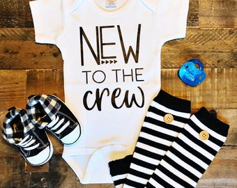 New to the Crew / Baby Bodysuit / Baby Boy / Baby Girl / Baby Clothes / Baby Gift / Baby Shower / Newborn / Coming Home Outfit