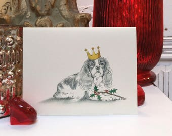 Boxed Cavalier King Charles Holiday Cards