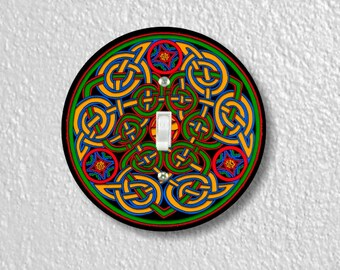 Celtic Knot Round Single Toggle Switch Plate Cover
