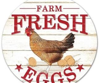 """12"""" Farmer's Market Farm Fresh Sign MD0347 MD0346, Farm Fresh Eggs MD0346, Farm Fresh Milk MD0347"""