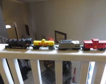Atlas Diecast Model Railroad Shell Oil Steam locomotive 4 pieces
