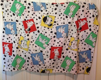 Vintage Disney 101 Dalmations Twin Flat Bed Sheet Excellent USA made