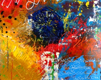 REFLECTION on abstract canvas painting