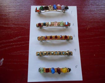 Beaded barrettes French closure