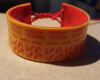 Indian style polymer clay cuff.