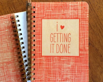 Getting It Done Pocket-Size Notebook - Real Birch Wood Notebook - Jotter Notepad - J1748