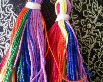 Gay pride rainbow tassel earrings! Pride earrings! Rainbow earrings!! Pride! LGBT pride