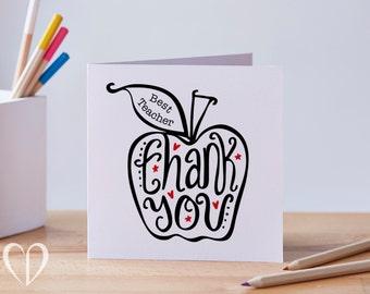 Best Teacher Thank You Apple Card