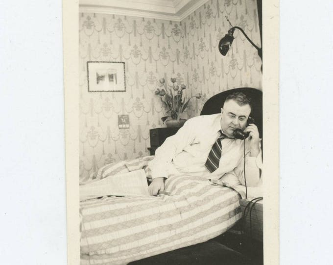 Vintage Snapshot Photo: Dressed for Bed (127625)