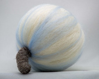 Needle Felted Pumpkin Art Sculpture Ice Queen
