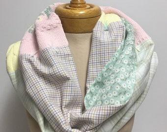 Pastel 'Spring is Sprung' infinity scarf