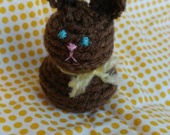 Small Chocolate Bunny, Amigurumi, Crochet