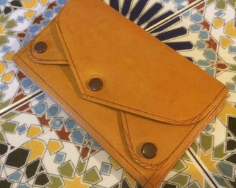 Amazing hand made leather 5 pocket wallet/coin purse