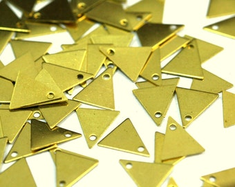 Triangle Charms ,Findings 1000 Pcs Raw Brass 10x9 mm 424R-170 tmlp