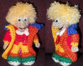 Mini Sixth Doctor (1984 to 1986), a Handmade Doctor Who Doll