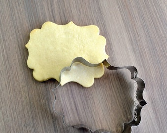 Cookie Cutter | Fondant Cutter | Plaque Cutter | NO RUST CUTTERS | Dishwasher safe| Wide French Chocolate Plaque Cookie Cutter - A14