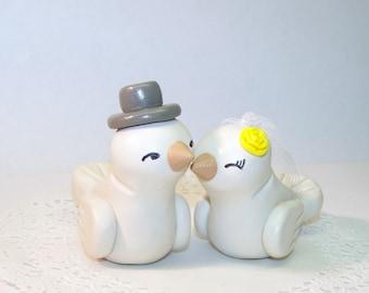 Custom Love Bird Wedding Cake Topper Birds - High Fashion Medium Size - Elegant Wedding Decor - Fully Customizable - Fast Shipping