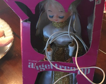 New in box vintage Noma angel tree topper