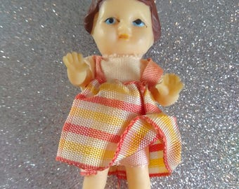 German ARI Rubber Doll with Original Clothing possibly 1950's Cute Small Vintage