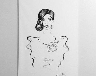 Abstract Fashion Illustration Print