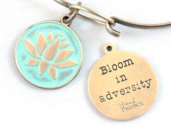 Bloom Reminder Token Charm Bracelet or Necklace