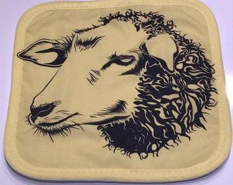 Sheep Face Hot Pad / Pot Holder
