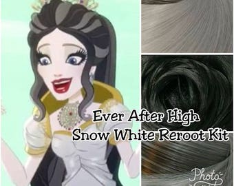 Ever After High Apple White's Mother Snow White Custom Doll Nylon Hair Color Blend Kit to Reroot your own OOAK Ever After High Doll