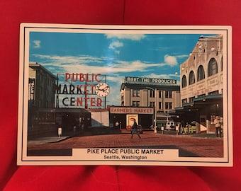 Vintage Pike Place Market Postcard