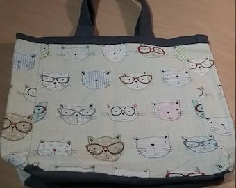 'Cats' shoulder bag