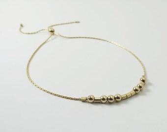 RESERVED for ESTHER Morse Code Bracelet Bridesmaids Gift Sister Gift Gold Bracelet Love Personalized Gift Hidden Message