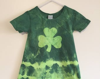 St. Patrick's Day Dress, Girls St. Patrick's Day Dress, St. Patrick's Day Girls Dress, Shamrock Girls Dress, Girls Shamrock Dress