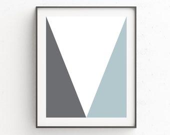 Nordic Print Design   Master Bedroom Decor   Minimal Poster Art