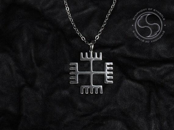 Hands of god pendant slavic symbol stainless steel jewelry aloadofball Choice Image