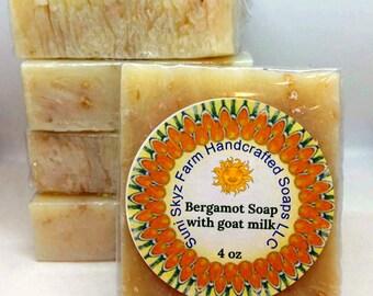 Bergamot Goat Milk Soap - Bergamot Soap - Bergamot Citrus Goat Milk Soap - Bergamot Citrus Soap - Artisan Earl Grey Tea Soap - Earl Grey Tea