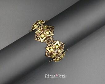 Beading Tutorial - Ava Beads Bracelet Tutorial - Miss Ava Bracelet - Beading Pattern by Sidonia