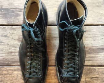 1930's Sabel 'Plumb Line' leather oxford high tops - Size 10 (1930's) - black