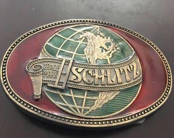 Vintage Schlitz Beer Belt Buckle